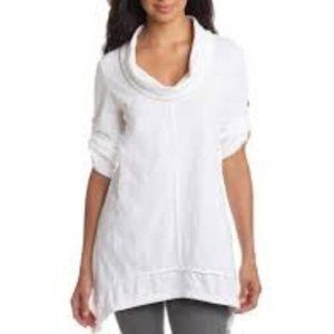 Neon Buddha Peace Cowl Tunic Top Ethical White A69